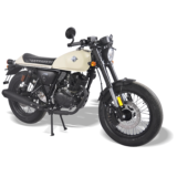 Cafe Racer 125 White Elegant